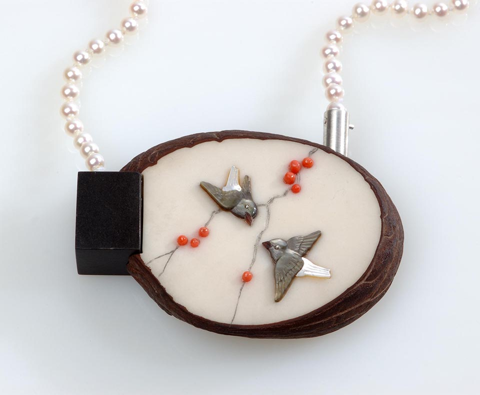 Necklace Two Birds