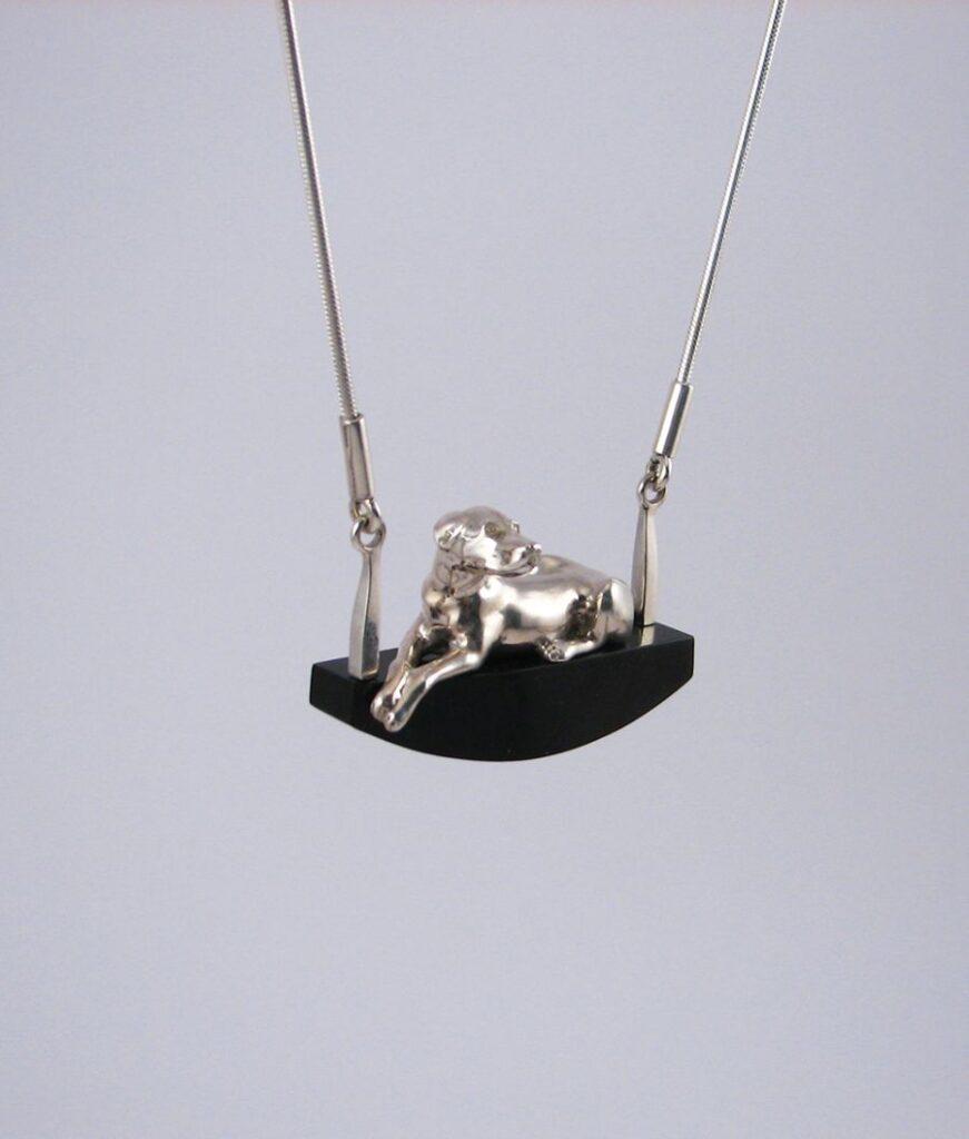Necklace Sitting dog